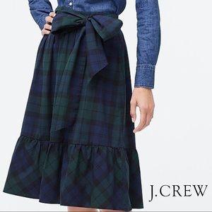 J. Crew Midi Skirt in Blackwatch Tartan Plaid NWOT